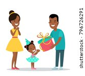 flat black family children... | Shutterstock .eps vector #796726291