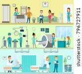 flat style hospital clinic... | Shutterstock .eps vector #796727911