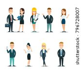 flat style business people... | Shutterstock .eps vector #796728007