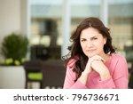mature unhappy woman. | Shutterstock . vector #796736671