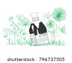 pollution and natural... | Shutterstock .eps vector #796737505