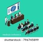 isometric 3d illustration... | Shutterstock . vector #796745899