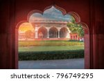 red fort is a fortress in the... | Shutterstock . vector #796749295