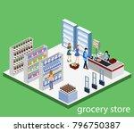 isometric 3d illustration... | Shutterstock . vector #796750387