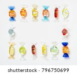striped glass candy frame | Shutterstock . vector #796750699