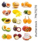 exotic fruit collection   Shutterstock . vector #79675270