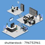 isometric 3d illustration set... | Shutterstock . vector #796752961