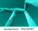 aqua colored apollo ancient... | Shutterstock . vector #796755967