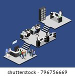 isometric 3d illustration set... | Shutterstock . vector #796756669
