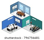 isometric 3d illustration set... | Shutterstock . vector #796756681