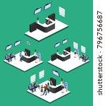 isometric 3d illustration set... | Shutterstock . vector #796756687