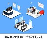 isometric 3d illustration set...   Shutterstock . vector #796756765