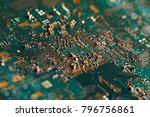electronic circuit board close... | Shutterstock . vector #796756861