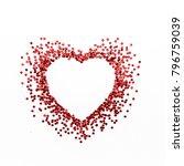 red heart symbol on white... | Shutterstock . vector #796759039