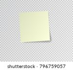 post sticky note. yellow vector ... | Shutterstock .eps vector #796759057