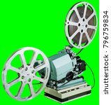 a movie projector is an opto... | Shutterstock . vector #796759834