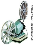 a movie projector is an opto... | Shutterstock . vector #796759837