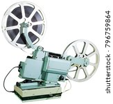 a movie projector is an opto... | Shutterstock . vector #796759864