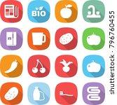 flat vector icon set  ... | Shutterstock .eps vector #796760455