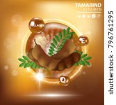 tamarind collagen vitamin skin... | Shutterstock .eps vector #796761295