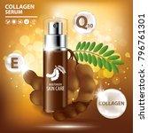 tamarind collagen vitamin skin... | Shutterstock .eps vector #796761301