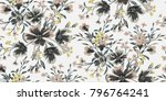 seamless floral pattern in... | Shutterstock .eps vector #796764241