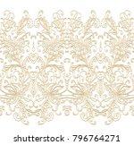 ornamental floral border on... | Shutterstock .eps vector #796764271