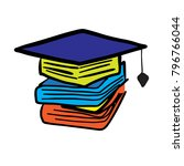 graduation book logo | Shutterstock .eps vector #796766044