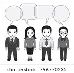 chibi style illustrations of a... | Shutterstock .eps vector #796770235