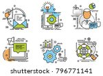 set of outline icons of growth.... | Shutterstock .eps vector #796771141