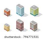 set of detailed isometric... | Shutterstock .eps vector #796771531