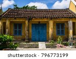 old yellow traditional house... | Shutterstock . vector #796773199