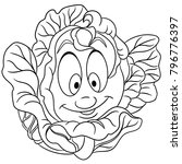 coloring page. coloring book.... | Shutterstock .eps vector #796776397