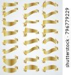 golden vintage ribbon... | Shutterstock .eps vector #796779229