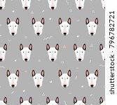 seamless vector pattern with... | Shutterstock .eps vector #796782721