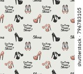 pattern with fashion...   Shutterstock .eps vector #796783105