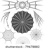 spider webs | Shutterstock .eps vector #79678882