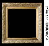 picture gold frame with a... | Shutterstock . vector #79678927