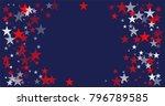 patriotic american stars... | Shutterstock .eps vector #796789585