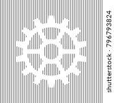 gear sign. vector. white icon... | Shutterstock .eps vector #796793824