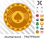 electronic casino chip... | Shutterstock .eps vector #796799644