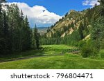 golf in vail beaver creek... | Shutterstock . vector #796804471