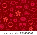 valentine's day seamless vector ... | Shutterstock .eps vector #796804861