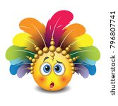 cute confused emoticon isolated ... | Shutterstock .eps vector #796807741