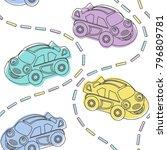 baby shower seamless pattern... | Shutterstock .eps vector #796809781