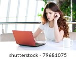 a young attractive business... | Shutterstock . vector #79681075