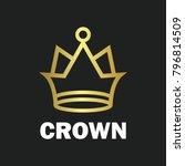 crown royal king vector logo... | Shutterstock .eps vector #796814509