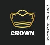 crown royal king vector logo... | Shutterstock .eps vector #796814515