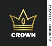 crown royal king vector logo... | Shutterstock .eps vector #796814521