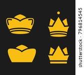 crown set royal king vector... | Shutterstock .eps vector #796814545